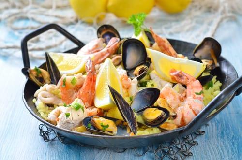 Mediterranean food paella