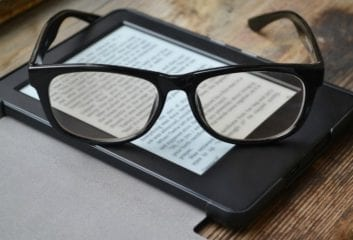 eReader reading books