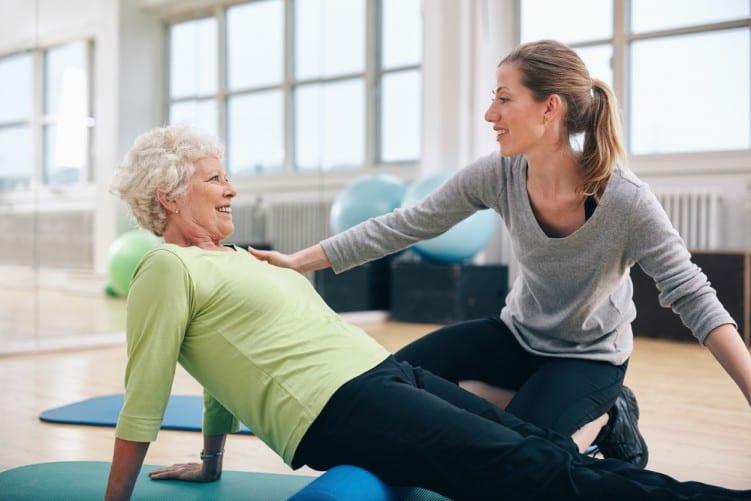Gym Instructor older woman