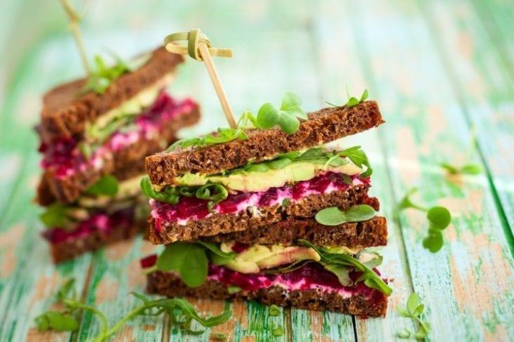 Healthy diet sandwich