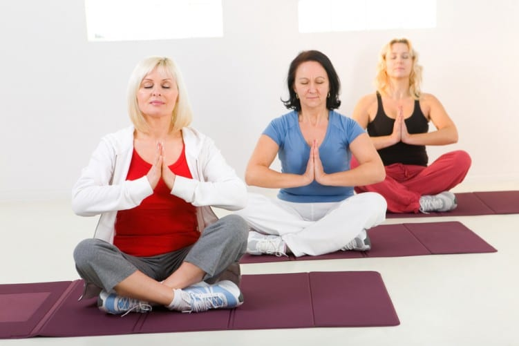 Meditation group of women