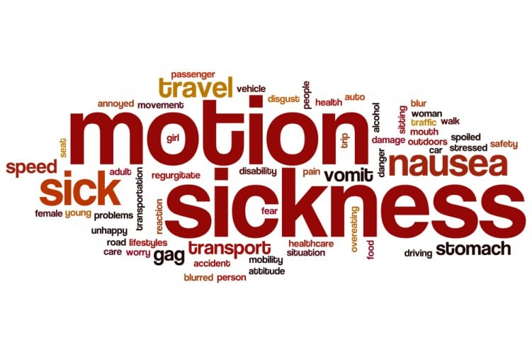 Motion or travel sickness